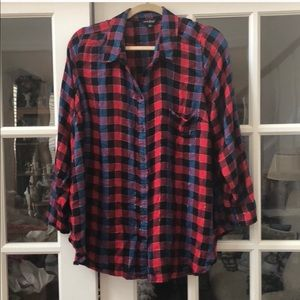 Lucky Brand button down blouse good condition